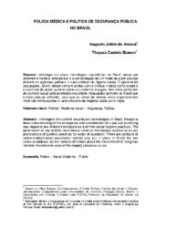 Polícia médica e política de segurança pública no Brasil