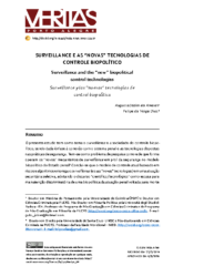 Surveillance e novas tecnologias de controle biopolítico